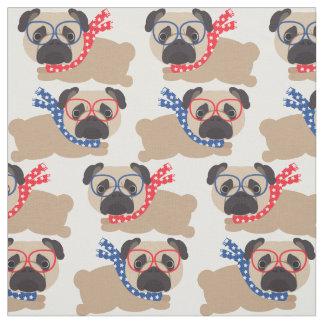 Patriotic Pugs - USA Fabric