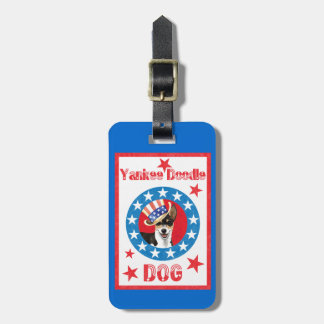 Patriotic Rat Terrier Luggage Tag
