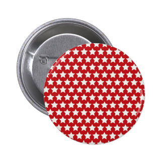Patriotic Red and White Stars Pattern 4th of July Buttons