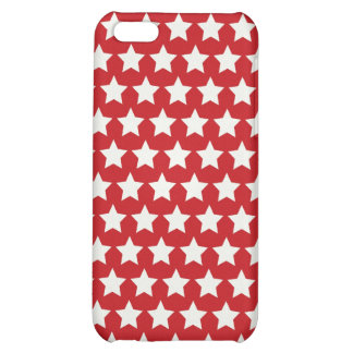 Patriotic Red and White Stars Pattern 4th of July Case For iPhone 5C