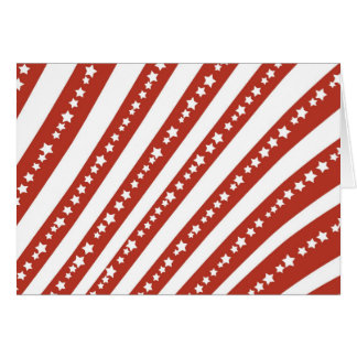 Patriotic Red and White Stars Stripes Freedom Flag Note Card