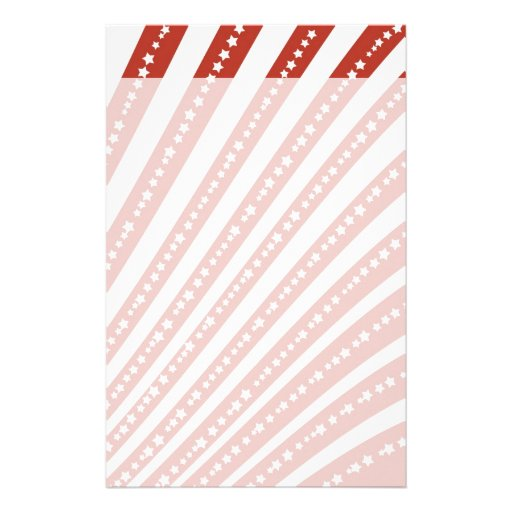 Patriotic Red and White Stars Stripes Freedom Flag Stationery Design