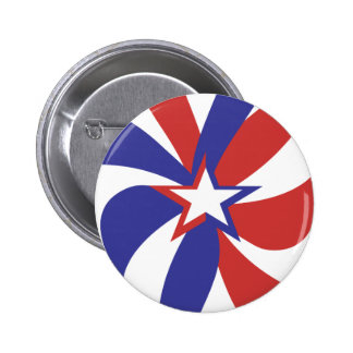 Patriotic Red White and Blue Pin