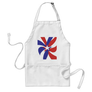 Patriotic Red White and Blue Standard Apron