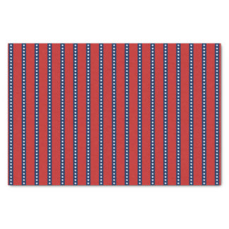 """Patriotic Red White and Blue Stars and Stripes 10"""" X 15"""" Tissue Paper"""