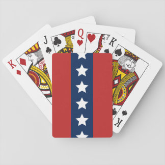 Patriotic Red White and Blue Stars and Stripes Card Deck