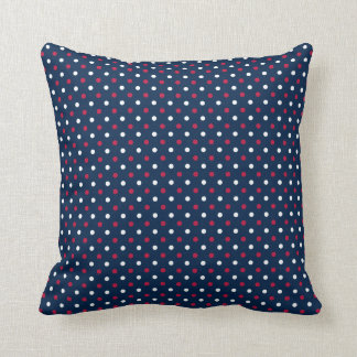 Patriotic Red, White and Blue Throw Pillow