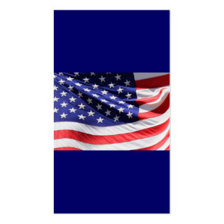 Patriotic Red White and Blue USA American Flag Business Card Templates