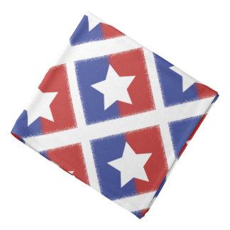 Patriotic Red White Blue American Unity Star Kerchief