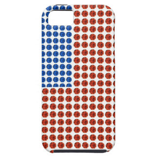 Patriotic Red White & Blue Crystal iPhone Case