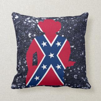 Patriotic Red White & Blue Guitarist Cushion