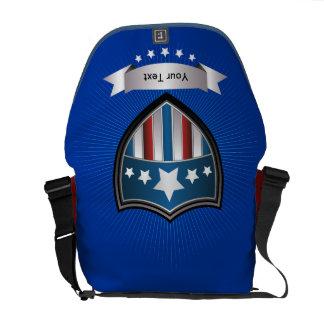 Patriotic Red White Blue Messenger Bag