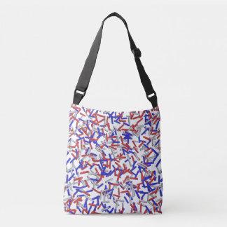Patriotic Red White Blue Sprinkles Crossbody Bag