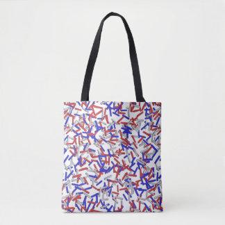 Patriotic Red White Blue Sprinkles Tote Bag