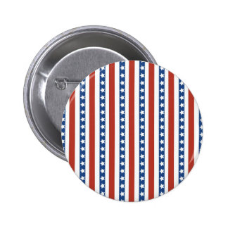Patriotic Red White Blue Stars and Stripes Freedom Pin