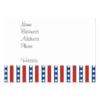 Patriotic Red White Blue Stars and Stripes Freedom Pack Of Chubby Business Cards