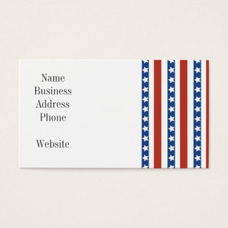 Patriotic Red White Blue Stars and Stripes Freedom Business Card