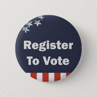 Patriotic Register to Vote 6 Cm Round Badge