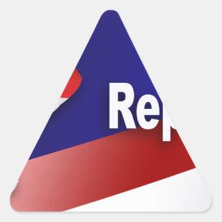 Patriotic Republican Symbols Triangle Sticker