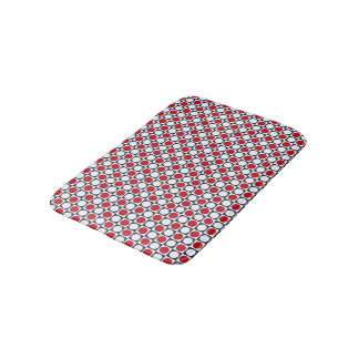 Patriotic Retro Dots Pattern Bath Mats