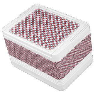 Patriotic Retro Dots Pattern Cooler