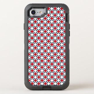 Patriotic Retro Dots Pattern OtterBox Defender iPhone 8/7 Case