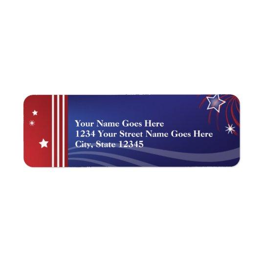 Patriotic Return Address Label