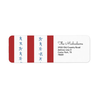 Patriotic Return Address Labels