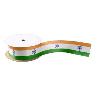 Patriotic Ribbon with Flag of India Satin Ribbon