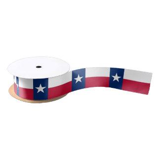 Patriotic Ribbon with Flag of Texas Satin Ribbon