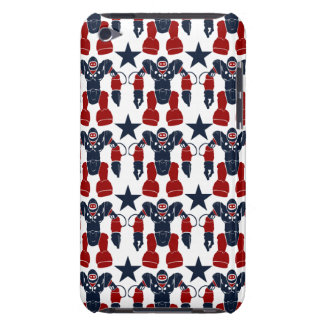 Patriotic Robot Soldier Red White Blue Stars USA iPod Touch Cases