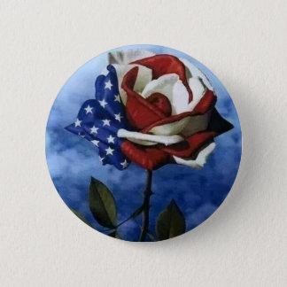 Patriotic Rose 6 Cm Round Badge