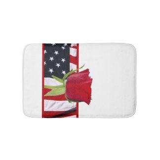 Patriotic Rose Bath Mats