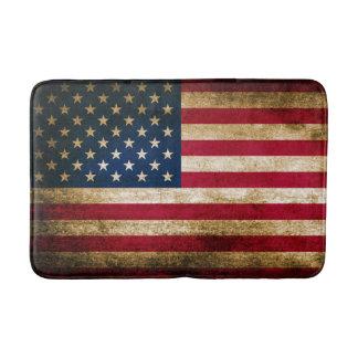 Patriotic Rustic American Flag Bath Mats