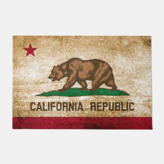 Patriotic Rustic California Republic Flag Doormat