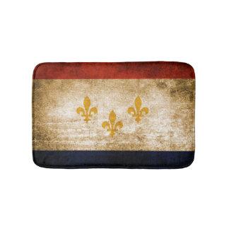 Patriotic Rustic Flag of New Orleans Bath Mat