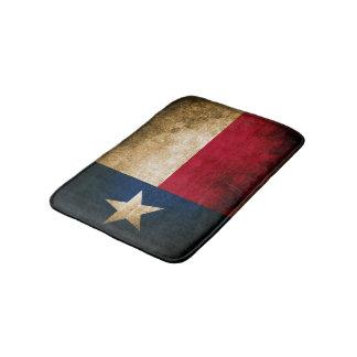 Patriotic Rustic Flag of Texas Bath Mat