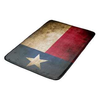 Patriotic Rustic Flag of Texas Bath Mats