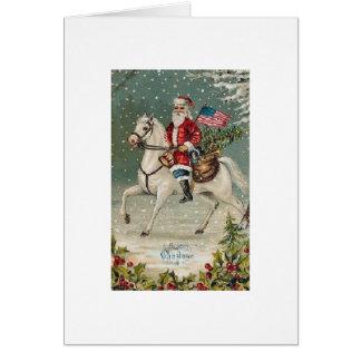 Patriotic Santa #3 Card