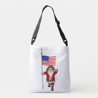 Patriotic Santa With Stars And Stripes Crossbody Bag