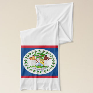 Patriotic Scarf with Flag of Belize