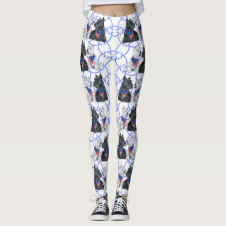 Patriotic Scottie Westie Leggings