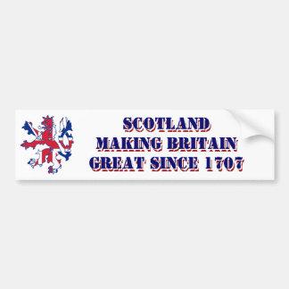 Patriotic Scottish union Jack design Bumper Sticker