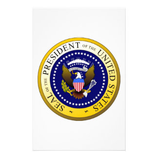 Patriotic Seal  President of the United States Stationery