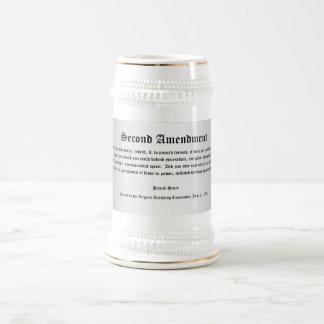 """Patriotic """"Second Amendment"""" Stein Beer Steins"""