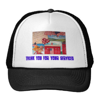 PATRIOTIC SERVICES THANK YOU CAP