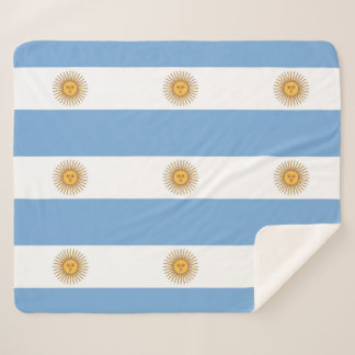 Patriotic Sherpa Blanket with Argentina flag
