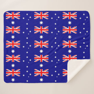 Patriotic Sherpa Blanket with Australia flag