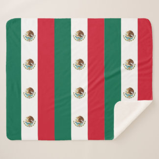 Patriotic Sherpa Blanket with Mexico flag