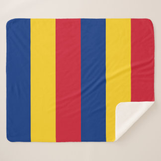 Patriotic Sherpa Blanket with Romania flag